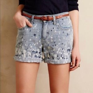 [ Pilcro ] Hyphen Paint Splatter Jean Shorts